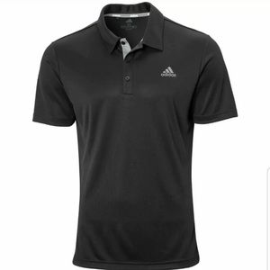 NEW MensAdidas Drive Novelty Solid Golf Polo Black